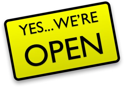 Yes we're open